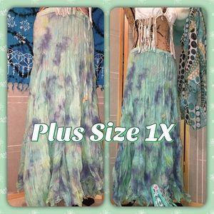 ➕Tie Dye Drawstring Summer Skirt (Cover Up) 1X